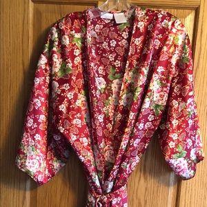 100% polyester long length robe